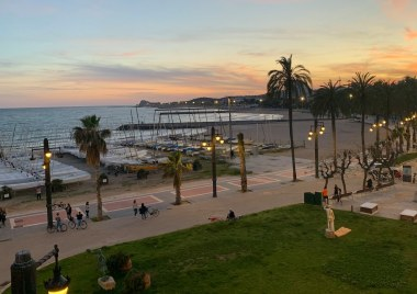Sitges at sunset