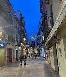 """Masked"" strolling in Sitges"